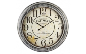Wall clock Railway, d62.5cm