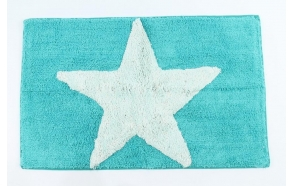 bathmat Star, blue