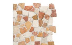 Mosaic marble Terra/White Interlock