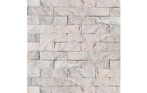Looduslik fassaadikivi sise- või välisseinale (30x100)150x400mm valge