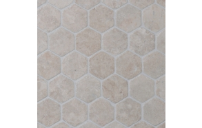 Hexagon White marble