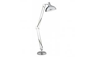 floor lamp, chrome, metal, E27 1X60W