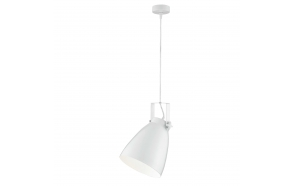 metal ceiling lamp, white, E27 1X40W