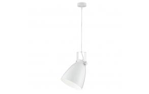metal ceiling lamp, white, E27 1X40W