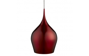 aluminium ceiling lamp w textile cable,red, E27,1X60W