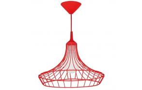 metallist laelamp, punane, E27 1X60W