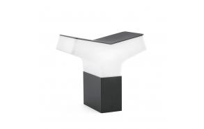 TAO  õuevalgusti, tumehall, alumiinium, h 22 cm,1 x E27 20W (ei ole komplektis)