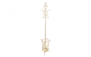 Coat rack Patime, white, 38x36x176cm