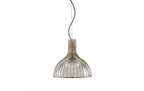 ceiling lamp, glass/old brass 1XE27 100W
