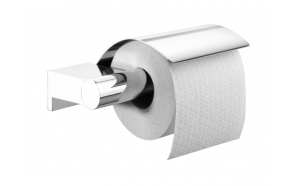 BOLD toilet-paper roll-holder with lid, chrome,, no screw assembling