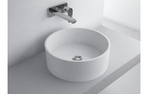 cast stone basin Olga Round, white