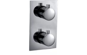 termostaat süvistatav dušisegisti Kimura, kroom, 3 veeväljundit, metallist käepidemed