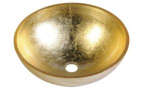 MURANO 40x13cm glass basin, gold
