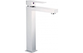 LATUS high basin mixer without pop up waste, chrome