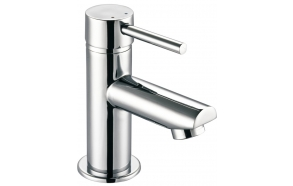 SMALL basin mixer without pop up waste, 130 mm, chrome