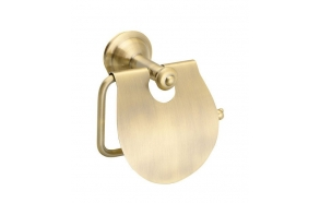 ASTOR Toilet paper holder with cover, bronze