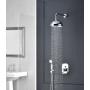 1 kangiga süvistatav diverteriga dušisegisti London II, 2 veeväljundit