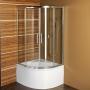 dušikaar Selma, 90x90x150 cm,kirgas klaas, ilma dušialuseta