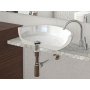 """Click-Clack Washbasin Waste 5/4"""", (H) 10-80mm, big plug/ABS/chrome for basins with and without overflow"""