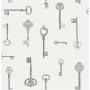 Keys Sidewall, Stone / Silver