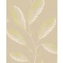 Accents Leaf Aubergine/Green/Natural
