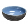 PRIORI ceramic basin, blue/grey