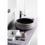 PRIORI ceramic basin, black/stone