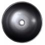 PRIORI ceramic basin black/brown, blue ornament