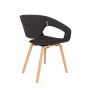Armchair Flexback Natural/Dark Grey