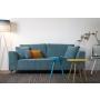 Sofa Dragon 3-Seater Rib Blue