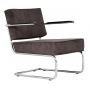 Lounge Chair Ridge Rib Arm Grey