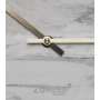Clock Marble Time White