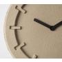 Clock Pulp Time Round Beige