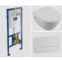 set:  wall hung wc Omnia Architectura 5684R, soft close seat 98M9C101, Villeroy&Boch wc frame 92246100, white flush plate 92249068
