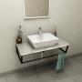SKA Countertop 90x2x46 cm, technical marble, Fior di Pesco