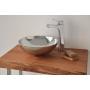 aluminium worktop basin Denia, shiny finish