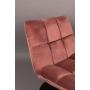 Lounge Chair Bar Velvet Old Pink
