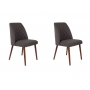set of 2 chairs Conway Dark Grey