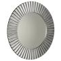 PRIDE mirror with frame, diameter 90cm, Silver