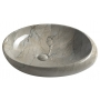 DALMA ceramic washbasin 68x44x16.5 cm cm, grey, click-clack not included