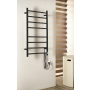 REDONDO Electric Towel Radiator with timer 75W, 500x900 mm, black matt finish