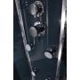 massage cabin with high tray 90X90X215 w dark back glass