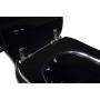 Kerasan Retro black seat cover, chromed hinges (not soft-close)