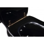 Kerasan Retro black seat cover, bronzed hinges (not soft-close)