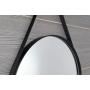 ORBITER round mirror with strap, ø 50cm, matt black
