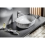 DALMA ceramic washbasin 59x42x14 cm, carrara