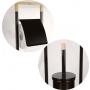 metal  toilet paper and  brush holder, black