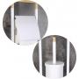 metal  toilet paper and  brush holder, white
