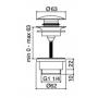 """universaalne põhjaklapp Cherry """"klik-klakk"""", harjatud teras 1 1/4´´, 0-63 mm"""