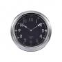 "16""Dia Chrome Metal Modern Clock"